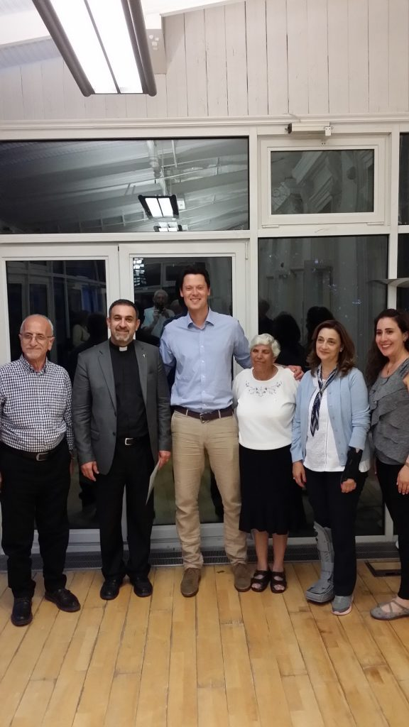 Following a debate held at University of Gloucestershire 2019: MP Alex Chalk (Cheltenham) and our guests from St Andrew's, Ramallah