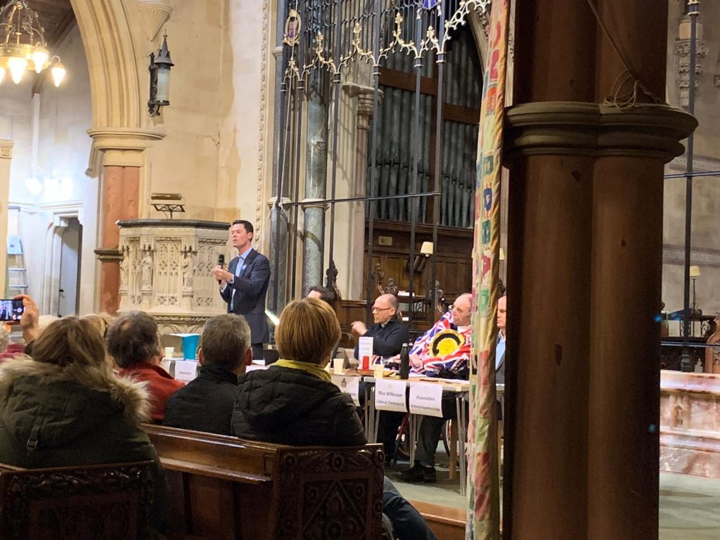 A hustings debate held at P&J during the General Election Campaign 2019