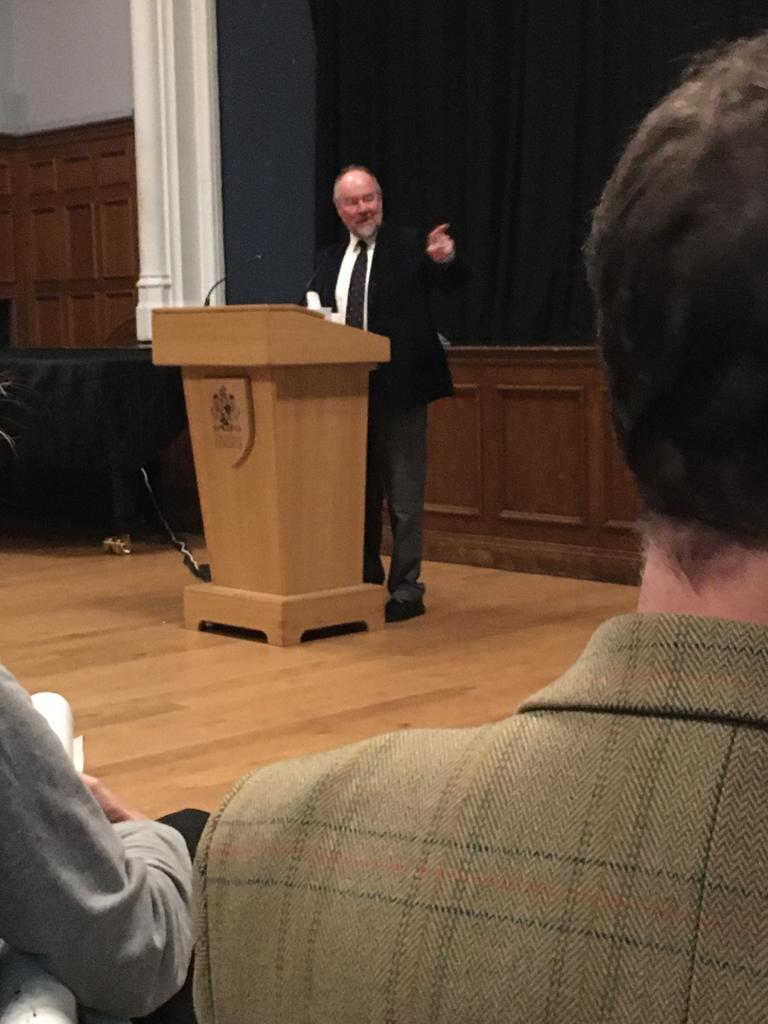 Sir Vincent Fean speaking at Cheltenham College, 2019
